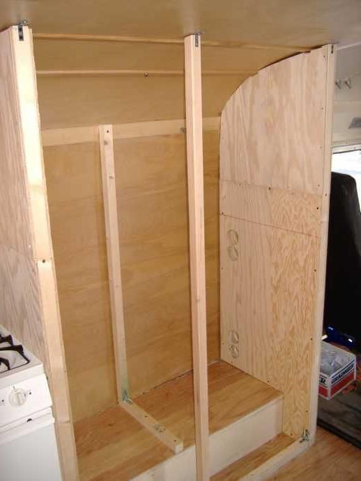 "2"" x 2"" supports for the dividing wall."