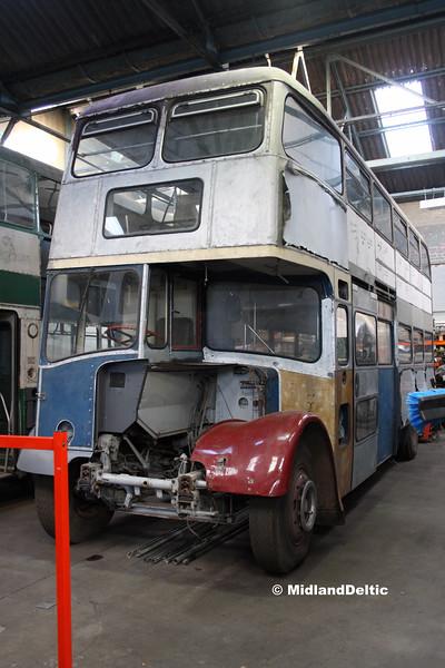 Nottingham Heritage Vehicles 80NVO, Hucknall Bus Depot, 10-01-2016