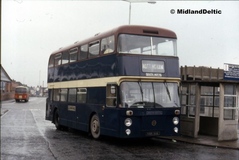South Notts 98, Loughborough Bus Station, 30-03-1991