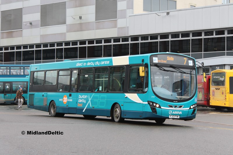 Arriva Midlands 3767, Derby Bus Station, 07-01-2017