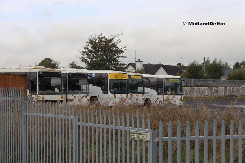 Bus Éireann DVS102, DVS105, VP340, DVS107, DVSD108, Thurles, 14-10-2017