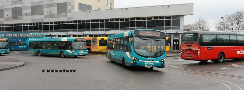 Arriva Midlands 3745, Derby Bus Station, 07-01-2017