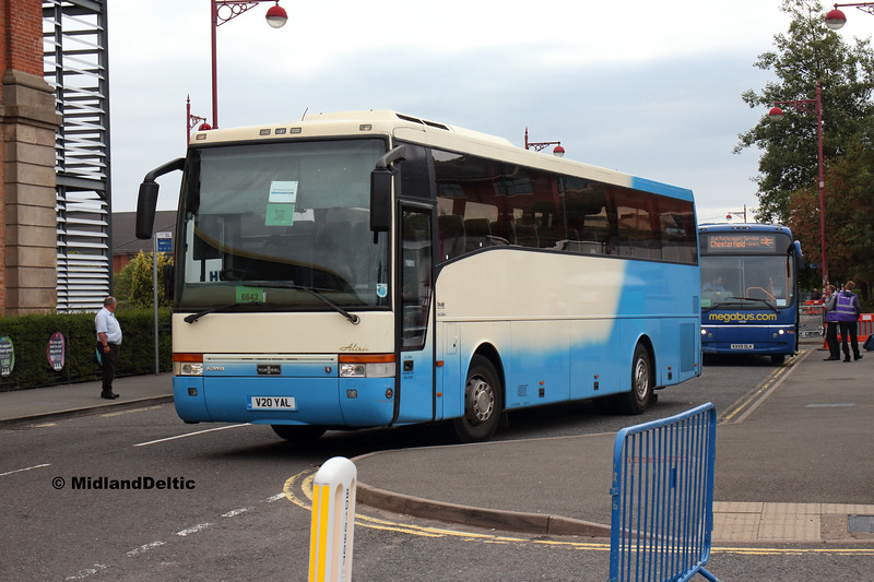 Nottingham Coaches V20YAL, Roundhouse Rd Derby, 18-08-2018