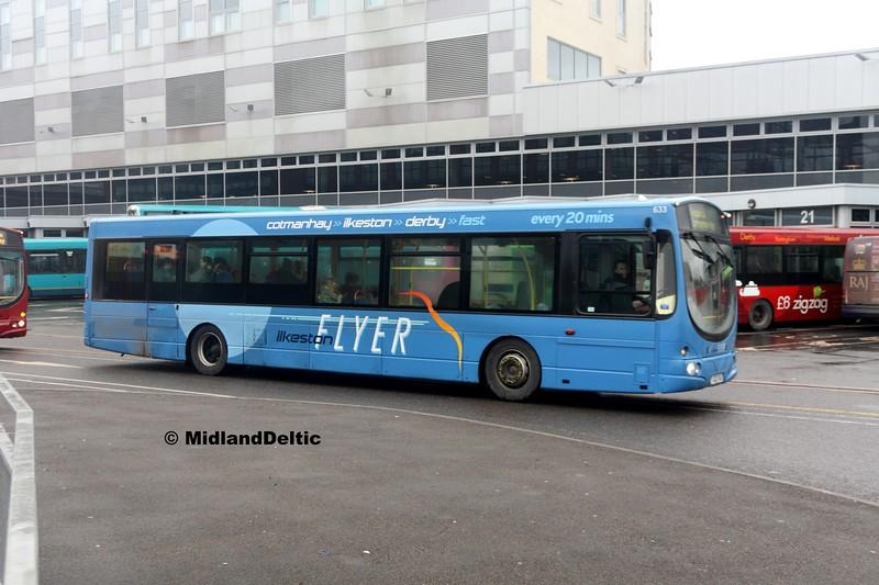 TrentBarton 633, Derby Bus Station, 07-01-2017