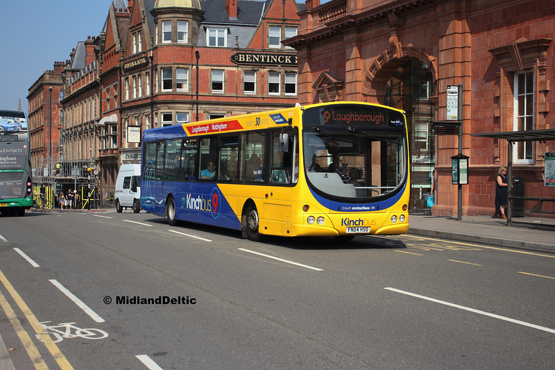 Kinchbus 652, Carrington St Nottingham, 27-08-2019