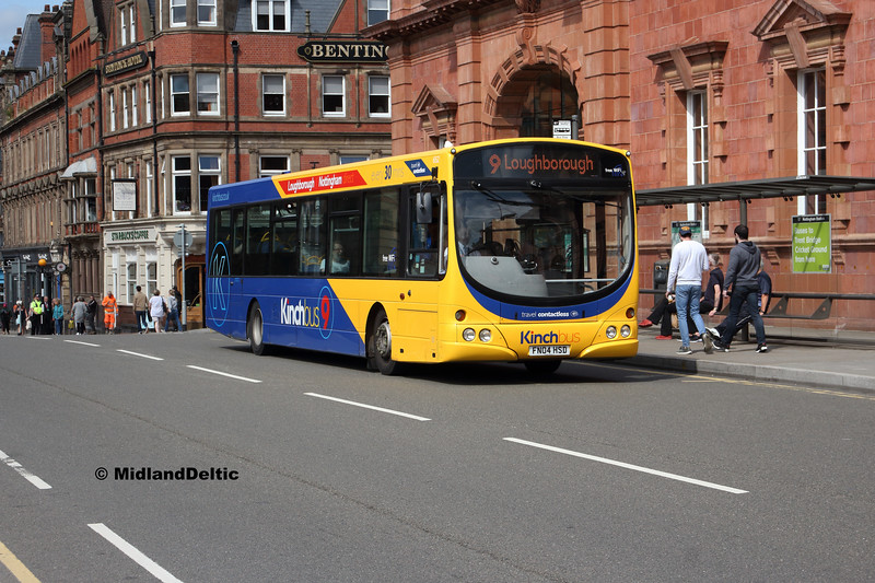 Kinchbus 652, Carrington St Nottingham, 20-08-2019