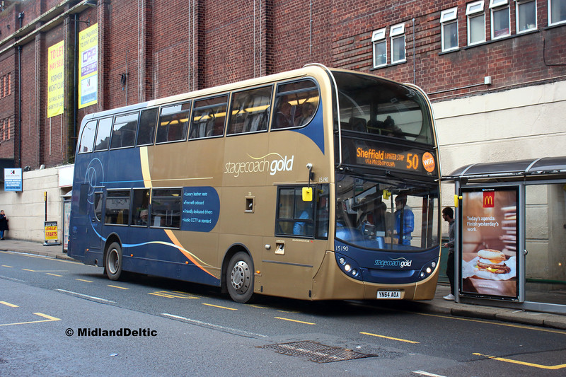 Stagecoach 15190, Cavendish St Chesterfield, 26-01-2019
