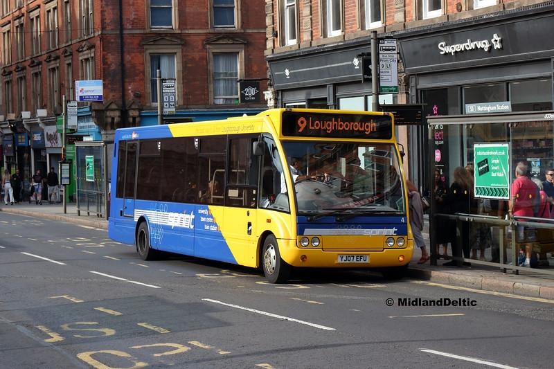 Kinchbus 4, Carrington St Nottingham, 18-08-2018