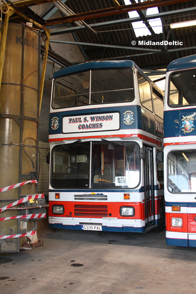 Nottingham Heritage Vehicles G335PAL, Hucknall Bus Depot, 10-01-2016