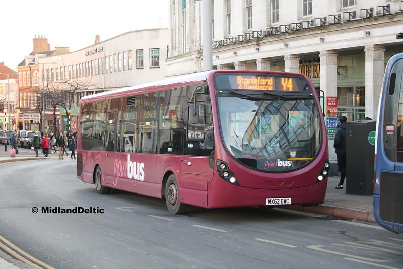 Your Bus 1306, Beastmarket Hill Nottingham, 16-01-2016
