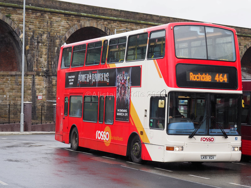 Rossendale Transport (Rosso) Volvo B7TL Plaxton President LK51 XGV (3)