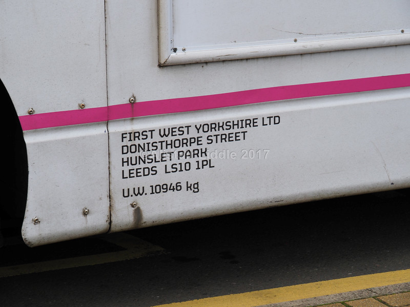 First West Yorkshire Volvo B7RLE Eclipse 69482 YJ09 NYV 'Calder Connect' legal lettering