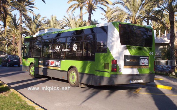 Buses from Elche in Spain