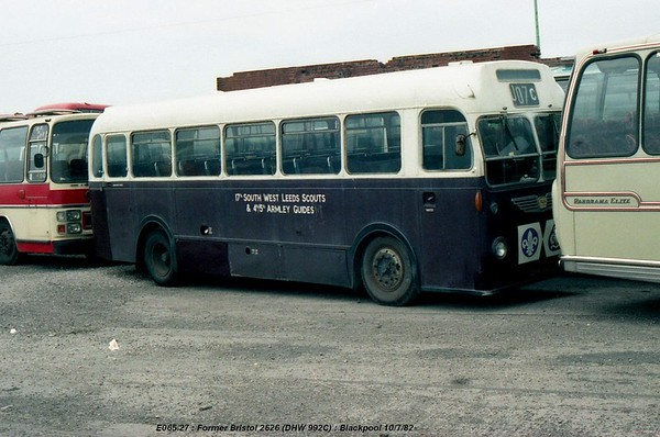 non-PSV [South West Leeds Scouts] DHW992C 820710 Blackpool [jg]