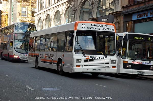 City Sprinter H343UWT 070807 Glasgow [jg]