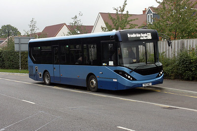 YX17 NLF on loan to Sussex Coaches on the A264, Broadbridge Heath.