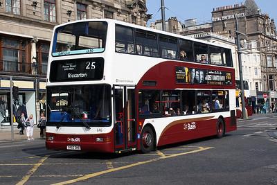 646-SK52 OHE on Princes Street, Edinburgh City Centre.