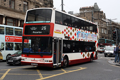 654-SK52 OHR on Princes Street, Edinburgh City Centre.