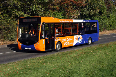 YJ15 AAU on the A264 Snowhill, Copthorne.