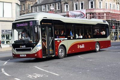 26-BT14 DKX on Princes Street, Edinburgh City Centre.