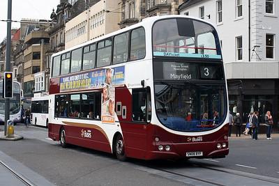 914-SN08 BYF on Princes Street, Edinburgh City Centre.