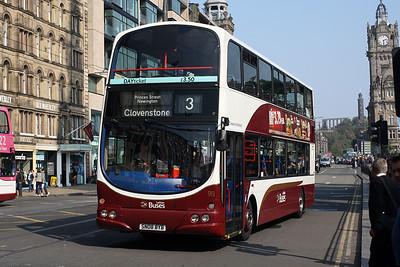 911-SN08 BYB on Princes Street, Edinburgh City Centre.