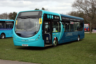 4273-GN64 DXP at the South East Bus Festival, Detling Show Ground 2018.