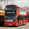 Metroline Wright Eclipse Gemini bodied Volvo, VWH2101 (LK15CXA), is held in slow moving traffic on Cumberland Gate, as it heads for the Edgware Road, whilst operating on route 98 to Willesden (Bus Garage) - 13 April 2016.