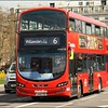 Metroline Wright Eclipse Gemini bodied Volvo, VWH2108 (LK15CXG), slowly heads along Cumberland Gate, in a line of traffic, whilst operating on route 7 to Willesden (Bus Garage) - 13 April 2016.