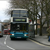 Arriva The Shires Volvo Olympian 5157 (S157KNK) pulls away from its stop in Castle Street, Oxford on service 280 to Oxford Station - 10 April 2004.
