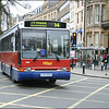 Oxford Bus Volvo 646 (K120BUD) crossing St Giles, Oxford on service 14 to Oxford's John Radcliffe Hospital - 10 April 2004.