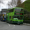 Oxford Bus Trident 107 (T107DBW) in New Road, Oxford on Park & Ride service 400 to Seacourt - 10 April 2004.