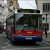 Oxford Bus Volvo 653 (K127BUD) makes its way slowly through High Street, Oxford on service 4C to Dean Court - 10 April 2004.