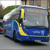 Oxford Bus Volvo 56 (OF02OXF) turns from New Road into Worcester Street, Oxford as it heads Gloucester Green Bus Station - 10 April 2004.