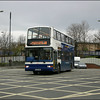 Stagecoach Oxford 'brookes bus' Trident 18054 (KX53VNE) crosses to Park End Street, Oxford - 10 April 2004.