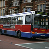 Oxford Bus Volvo 654 (K128BUD) pulls away from Park End Street, Oxford on route 4C to Dean Court - 10 April 2004.