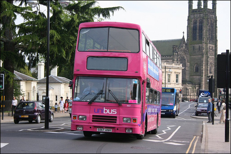 Stagecoach Midland Red South Volvo Olympian 16617 (S917ANH), in Uni 'Pink' livery, heads back towards Warwick University - 26 April 2007.
