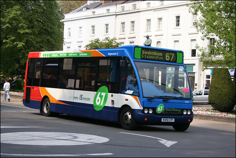 Stagecoach Midland Red South Optare Solo 47011 (KX51CTF) in The Parade, Leamington Spa on service 67 to Sydenham - 26 April 2007.