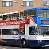 Stagecoach Midland Red South Volvo Olympian 16072 (R172RPU) passes through Market Street, Warwick 'Not in service' - 26 April 2007.