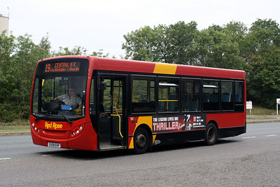 ADL Enviro 200-OU08 EHP in Bletchley Bus Station
