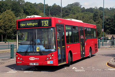 714-AJ58 WBE Metrobus at New Addington