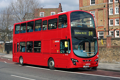 DW 285-LJ59 LWN Arriva London at Kennington Park