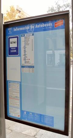 Bus stop 1224 Madrid 26 November 2015