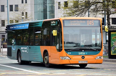 Wales: 103 (Cardiff Bus) Kingsway Cardiff 29 April 2019
