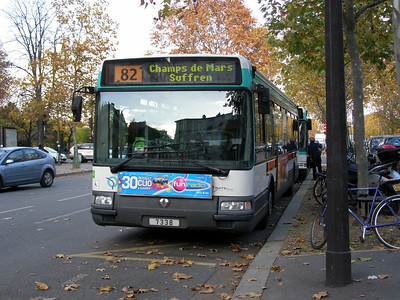 7338 Champs de Mars 6 November 2007 Diagonal line through the route number indicates a short working.