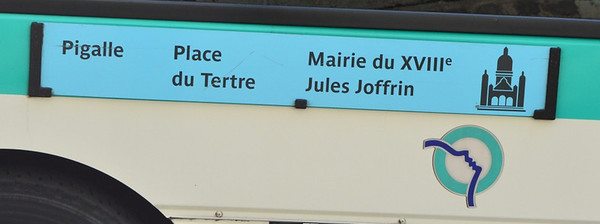Route board on 1313 Montmartre 12 April 2014