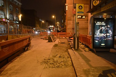 Bus stop works on Abbey St 26 January 2017