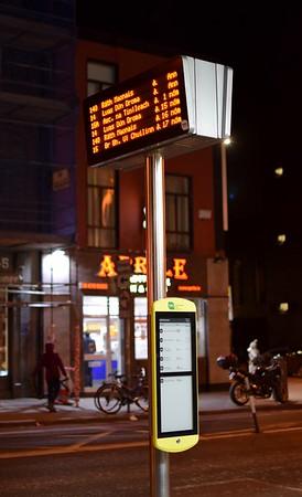 Richmond Street bus stop RTPI 15 January 2020