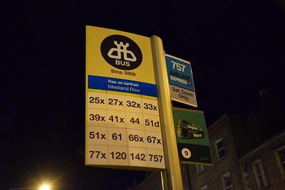 Westland Row Bus Stop 4 January 2020