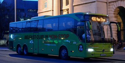171KE1401 Custom House 23 March 2017 First day of the M1 Express (route 400) Dublin to Belfast non stop service.
